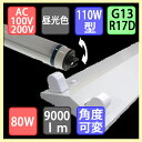 110W2灯用逆富士型器具とLED蛍光灯形 直管110Wタイプ 角度可変型 4500lm×2本 昼光色のセットです!
