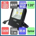 LED投光器 1000W相当 100W 薄型 投光器