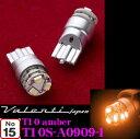 【LEDweek開催中♪】Valenti ヴァレンティ T10S-A0909-1 ジュエルLEDウィンカーランプ T10ウエッジ アンバー(W2.1×9.5d型)
