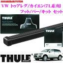 THULE スーリー VW トゥアレグ/カイエン(7L系)用 ルーフキャリア取付3点セット 【フット753&バー7121&キット3036セット】