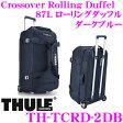 【只今エントリーでポイント16倍!!】THULE TCRD-2DB Crossover Rolling Duffel 87L ダークブルー スーリー クロスオーバー キャリーバッグ ローリングダッフル【74cm×44cm×42cm 重量4.2kg】
