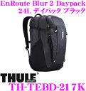 【只今エントリーでポイント14倍&クーポン!】THULE TH-TEBD-217K EnRoute Blur 2Daypack 27Lスーリー アンルート ブラー2 ブラック 【15インチMacBookPro/立体成形SafeZone付き 大容量リュック バッグ】