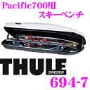 【スキーキャリアweek開催中♪】THULE 694-7 スーリー ジェットバッグ用スキーホルダー 【スキー5セットもしくはスノーボード2セット】 【Turing700/Pacific700用】