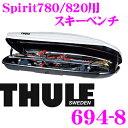 【本商品エントリーでポイント5倍!!】THULE 694-8 スーリー ジェットバッグ用スキーホルダー 【スキー6セットもしくはスノーボード4セット】 【Dynamic800/Motion800/Motion200/Touring780/Pacific780/Atlantis780用】