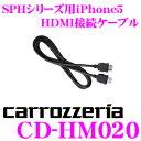 【只今エントリーでポイント5倍&クーポン!】カロッツェリア CD-HM020 アプリユニット用iPhone5 HDMI接続ケーブル