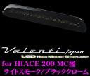 【只今エントリーでポイント7倍!!】Valenti ヴァレンティ HT200ACE-SB-1 ジュエルLEDハイマウントストップランプ ハイエース 200系 /レジアスエース(H24.5〜)用 【3型後期〜4型に適合】 【17LED ライトスモーク/ブラッククローム】