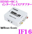 Beat-Sonic ビートソニック IF16 HDMI→RCA変換アダプター 【HDMIコンバーター/HDMI出力をRCAピン(映像&音声)に変換!!】