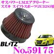 BLITZ ブリッツ No.59175 SUS POWER CORE TYPE LM-RED スズキ スイフトスポーツ(ZC32S)用 サスパワー コアタイプLM エアクリーナー