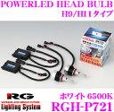 RG Lighting System 純正交換LEDバルブ RGH-P721 POWER LED HEAD Bulb H9/H11タイプ 6500K 5000lm 【蒼さと白さを両立したブルーホワイト光】