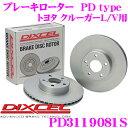 DIXCEL ディクセル PD3119081S PDtypeブレーキローター(ブレーキディスク)左右1セット