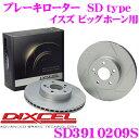 DIXCEL ディクセル SD3910209S SDtypeスリット入りブレーキローター(ブレーキディスク) 【制動力プラス20%の安全性!】 【イスズ ビッグホーン 等適合】