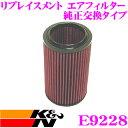 K&N 純正交換フィルター E-9228 アルファロメオ936A1 / 936A11 166用などリプレイスメント ビルトインエアフィルター 純正品番60603982対応