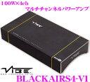 【本商品エントリーでポイント7倍!】VIBE Audio ヴァイブオーディオ BLACKAIRS4-V1 100W×4chパワーアンプ
