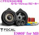FOCAL フォーカル Perfomace PS80F for MB メルセデスベンツCクラス(W205)専用 8cmセパレート2way車載用スピーカー