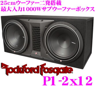 羅克福德 RockfordFosgate 衝床 P1-2 x 12 最大 1000 W 30 釐米低音單元 2 動力低音反射式音箱