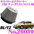 BLITZ ブリッツ No.26039 SUS POWER AIR CLEANER 日産 ティーダ(C11 NC11)用 サスパワー コアタイプエアクリーナー
