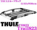 THULE Trail823 ����� �ȥ쥤�� TH823 �롼�ե�å� ��Ĺ��ʪ�б������С��ѥå� / �����å������б�T-�ȥ�å������� �ڳ���135cm��90cm��