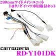 カロッツェリア RD-Y101DK 200mmワイド メインユニット トヨタ/ダイハツ車用 取付キット 【AVIC-RW99/RW33用】