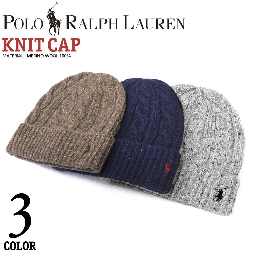 POLO RALPH LAUREN Ralph wrap type cable knit knit hat Cap ski snowboard snowboarding commuter school Beanie unisex mens hats