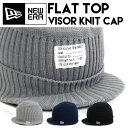 ニューエラ ニットキャップ【バイザー付きニットキャップ】ミリタリーパッチ Flat Top Visor Knit NEW ERA ニット帽 CUFF カフ 折り...