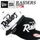 【送料無料】ニューエラ スナップバックキャップ レイダース テキストロゴ NEW ERA CAP NFL RAIDERS NEWERA 9FIFTY 950 帽子 オークランド ウェッサイ ブラック ベースボールキャップ ストレートキャップ SNAPBACK 11308457 11308460