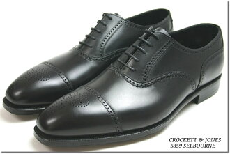 Crockett & Jones hand grade セミブローグ Selborne black ( CROCKETT JONES SELBOURNE BLACK )
