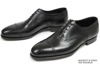 Crockett & Jones hand grade セミブローグ Welbeck black ( CROCKETT JONES WELBECK BLACK )