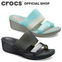 カラーブロック ウェッジ ウィメン ColorBlock Wedge / crocs レディース サンダル
