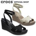 レイ 2.0 クロス ストラップ アンクル ウェッジ ウィメン / crocs サンダル レディース アウトレット outlet