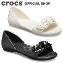 【クロックス公式】リナ フラワー ドルセー ウィメン Lina Flower D'Orsay / Dorsay crocs レディース パンプス フラットシューズ サンダル【PR3】