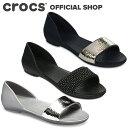 【クロックス公式】リナ エンベリッシュド ドルセー ウィメン Lina Embellished D'Orsay Flat / crocs dorsay パンプス フラットシューズ レディース サンダル【PR1】