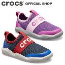 【クロックス公式】スウィフトウォーター イージーオン ロゴ シュー キッズ Swiftwater Easy-On Logo Shoe / crocs スニーカー スリッポンアウトレット outlet 【PR1】