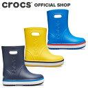 【クロックス公式】クロックバンド レイン ブーツ キッズ Crocband Rain Boot Kids / crocs 長靴 雨靴 子供用 ボーイズ ガールズ【NO】