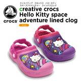 ����å���(crocs) ���ꥨ���ƥ��� ����å��� �ϥ?���ƥ� ���ڡ������ɥ٥���㡼 �饤��ɥ���å���creative crocs HelloKitty space adventure lined clog��/�����륺/�Ҷ���/�Ҷ���/�ܥ�/�������/���塼����40�ۡڤ������б���