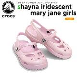 クロックス(crocs) シャイナ イリディセント メリージェーン ガールズ (shayna iridescent mary jane girls) /キッズ/サンダル/シューズ/子供用/子供靴/ベビ