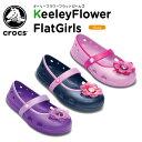 クロックス(crocs) キーリー フラワー フラット ガールズ(keeley flower flat girls )/キッズ/フラットシューズ/子供用/子供靴/ベビー/【20】[r]