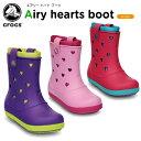 クロックス(crocs) クロックバンド エアリー ハート ブーツ(crocband airy hearts boot) /キッズ/ブーツ/シューズ/子供用【20】[r]