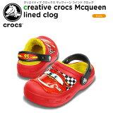【31%OFF】クロックス(crocs) クリエイティブ クロックス マックィーン ラインド クロッグ(creative crocs Mcqueen lined clog)/ボア/キッズ/サンダル/シューズ/子供用/子供靴/カーズ/[r]【ポイント10倍対象外】