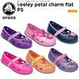 ショッピングスポーツ シューズ クロックス(crocs) キーリー ペタル チャーム フラット PS(keeley petal charm flat PS)/キッズ/フラットシューズ/子供用/子供靴/【あす楽対応】【15】