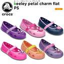 【22%OFF】クロックス(crocs) キーリー ペタル チャーム フラット PS(keeley petal charm flat PS)/キッズ/フラットシューズ/子供用/子供靴/【15】【ポイント10倍対象外】[r]【ポイント10倍対象外】