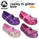 クロックス(crocs) キーリー ハイグリッター ボウ (keeley hi glitter bow) /キッズ/サンダル/シューズ/子供用/子供靴/ベビー/[r]