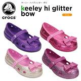 クロックス(crocs) キーリー ハイグリッター ボウ (keeley hi glitter bow) /キッズ/サンダル/シューズ/子供用/子供靴/ベビー/【あす楽対応】