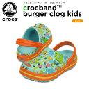 クロックス(crocs) クロックバンド バーガー クロッグ キッズ(crocband burger clog kids)/キッズ/サンダル/シューズ/子供用【15】[r]
