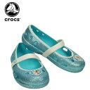 クロックス(crocs) キーリー フローズン フラット(keeley frozen flat kids)アナと雪の女王/ディズニー/キッズ/サンダル/シューズ/子供用/子供靴/[r]【10】【ポイント10倍対象外】