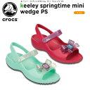クロックス(crocs) キーリー スプリングタイム ミニ ウェッジ PS(keeley springtime mini wedge PS)/キッズ/サンダル/子供用[r]