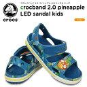 楽天crohas(クロハス)クロックス(crocs) クロックバンド 2.0 パイナップル LED サンダル キッズ(crocband 2.0 pineapple LED sandal kids )/キッズ/サンダル/シューズ/子供用[r]