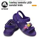 楽天crohas(クロハス)クロックス(crocs) キーリー スイーツ LED サンダル キッズ(keeley sweets LED sandal kids )/キッズ/サンダル/シューズ/子供用[r]