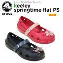 クロックス(crocs) キーリー スプリングタイム フラット PS(keeley springtime flat PS) /キッズ/サンダル/シューズ/子供用...