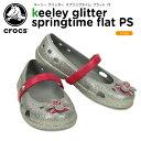 クロックス(crocs) キーリー グリッター スプリングタイム フラット PS (keeley glitter springtime flat PS) /キッズ女の子/シューズ/子供用/子供靴/ベビー/【20】[r]【ポイント10倍対象外】