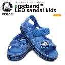 楽天crohas(クロハス)【25%OFF】クロックス(crocs) クロックバンド 2.0 LED サンダル キッズ(crocband 2.0 LED sandal kids)/キッズ/サンダル/シューズ/子供用[r][C/A]